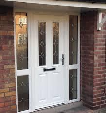 a white posite entrance door