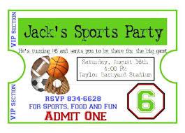 Free Football Invitation Templates Football Ticket Invitation Template Free Printable Birthday