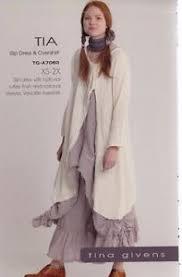 Tina Givens Patterns Awesome PATTERN Tia Slip Dress Overshirt Women's Sewing PATTERN From