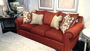 D Rust Coloured Sofa Colored Leather Sofas Within Plan 9  Uk
