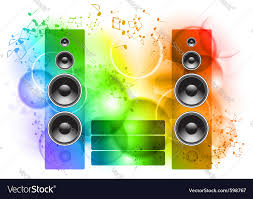 speakers background. music abstract background with speakers vector image