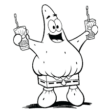Baby Spongebob Coloring Pages Characters Pictures Printable Kids