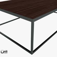 metal parquet coffee table by restoration hardware 3d model max obj 3ds fbx dwg unitypackage 6