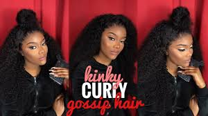 WATCH ME INSTALL AND STYLE THIS <b>KINKY CURLY</b> HAIR (<b>Lace</b> ...