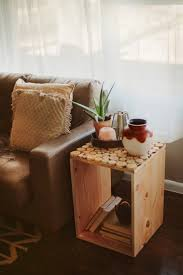 furniture, Cute Square Desaign Ideas For Diy Wood Crate With Small Circle  Countertop And Rustic