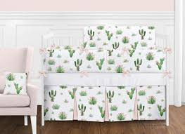 pink and green boho watercolor cactus