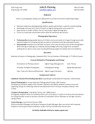 Photographer Resume Objective Fleming J Resume 42