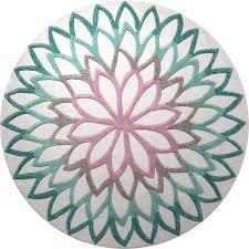 round turquoise rug esprit lotus flower turquoise round rug turquoise area rug ikea