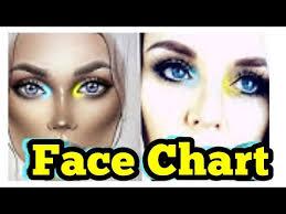 Makeupgeek Face Chart Makeup Milk1422 Speed Tutorial