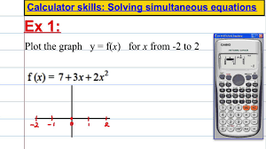 casio fx 991es plus calculator skills plotting a graph