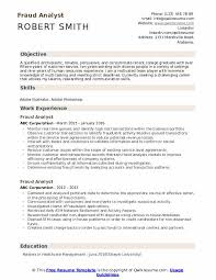 Fraud Analyst Resume Samples Qwikresume