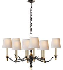 visual comfort tob5109br hab np thomas obrien chandler 10 light 37 inch blackened rust with antique brass chandelier ceiling light