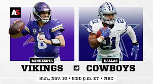 Dallas Cowboys At T Stadium Seating Chart Sunday Night Football Minnesota Vikings Vs Dallas Cowboys