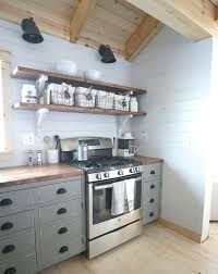 diy cabin kitchen open shelves photo on diy kitchen wall shelves
