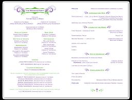 Wedding Ceremony Program Template Madinbelgrade