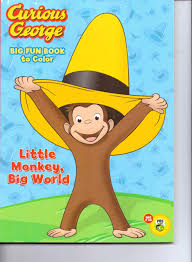 curious george big fun book to color fantastic coloring book 96 pages tear share little monkey big world paperback 2012