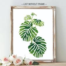 wall art prints tropical palm leaves green philodendron painting watercolor nursery greenery decor in calligraphy from canvas uk on tropical wall art uk with wall art prints tropical palm leaves green philodendron painting
