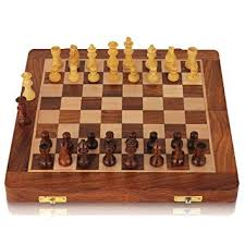 Superior Chess Set   Wooden Travel Chess Set Magnetic Chess Set For Kids Adults  Chess Board Folding