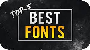 Best Font For Banner Design Best Fonts For Youtube 2016 Logo Banner Thumbnails Photoshop More