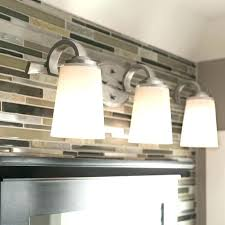 brushed nickel bathroom lights. 3 Light Bathroom Vanity Lights Lighting Shop Brushed Nickel . V