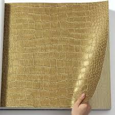 metallic gold leather crocodile skin