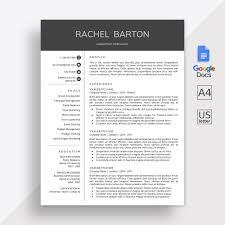 Google Docs Resume Template Google Docs Cv Template Google Docs Modern Resume Template Online Resume Cover Letter Instant Download