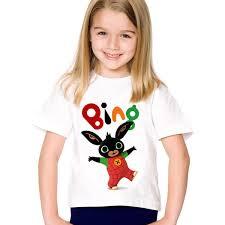 2019 <b>Cartoon</b> Print <b>Bing</b> Rabbit/Bunny Children Funny T Shirt Kids ...