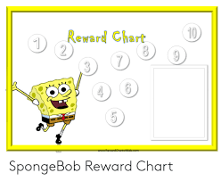 10 Reward Chart 2 1 7 3 Wwwrewardcharts4kidscom Lo Spongebob