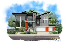 nice contemporary building plans modern house plan