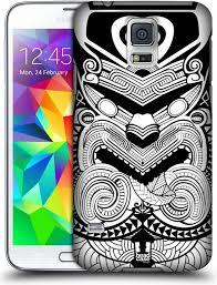 Pouzdro Head Case Samsung Galaxy Ss S5 Neo G900 G903f Vzor Maorské Tetování Motivy černá A Bílá Válečník