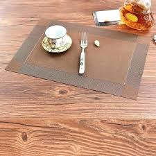 placemats brown for round table cork canada
