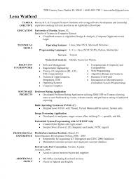 Resume Templates Sample For An Entry Level Mechanical Engineer