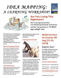 Author Jamie Nast Offers Public Idea Mapping Workshop In
