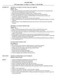 Safety Instructor Resume Samples Velvet Jobs