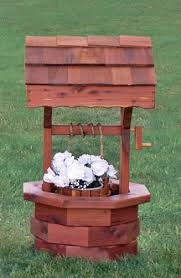 Image result for wooden wishing wells