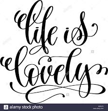 La Vie Est Belle Lettres écrites à La Main Citation Positive