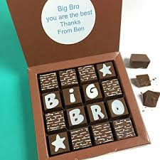 gift for brother big brother gift chocolates for big bro chocolate gift for a big brother personalised chocolate message amazon co uk grocery