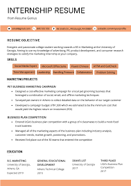 Resume Objective For Internship Internship Resume Samples Writing Guide Resume Genius