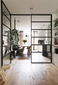 wood office partitions. Steel Frame Crittall Windows In An Open Plan Contemporary Living Space | NONAGON.style Wood Office Partitions