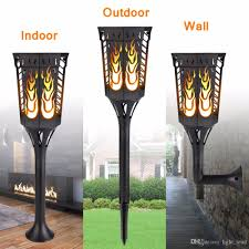 outdoor torch lighting. 2018 96led Solar Flame Effect Light Outdoor Waterproof Flickering Lighting Wall Lamp Landscape Lights For Garden Decoration From Light_lead, Torch A