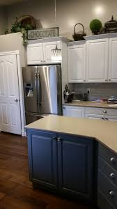 Refinished White Cabinets Refinished Kitchen Cabinets In Sw Pure White Island In Sw