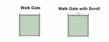 chain link fence double gate. Chain Link Walk Gate Fence Double