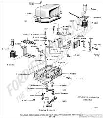 ford truck technical drawings and schematics section i voltage regulator ford 15 volt negative ground alternator 1964 1972