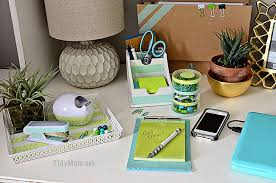 diy office desk accessories. DIY Customized Desk Accessories Using Scotch Expressions Tape At TidyMom.net Diy Office