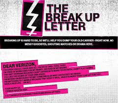 T Mobile Helps You Write Your Carrier A Break Up Letter
