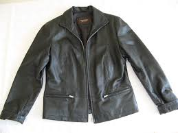 black leather jacket by julia s roma size 12