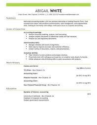 Intern Resume Template Accounting Simple Unusual Sample Internship ...