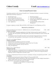 Assistant Controller Job Description Controller Resume Accomplishments Sample Accounting Resumes Resume 8