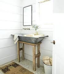 farmhouse bathroom ideas. Farmhouse Bathroom Decor Ideas Galvanized Metal Tub Sink . S