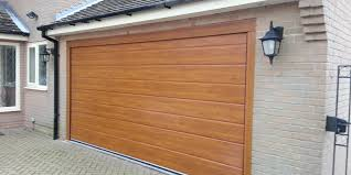 new insulated garage door golden oak grantham 2